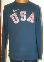 Nike USA Olympic Team Sweatshirt RIO 582839-451 Size Large - NAVY RED WHITE RARE
