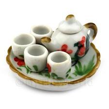 miniature fait main Coquelet motif céramique thé ensemble