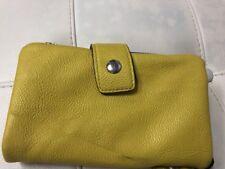 Clarks Yellow Fold Over Zip Around Wallet