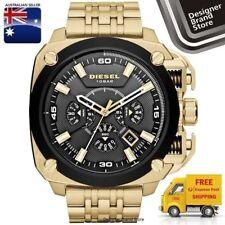 Diesel Mens Watch BAMF Gold Tone Steel Black Square Dial Chrono DZ7378
