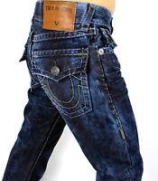 True Religion Men's Ricky Straight Cloud Cover Super T Jeans - M859NZM3