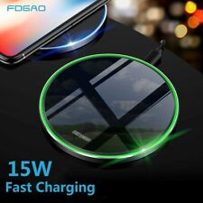 US Fast 15W Qi Wireless Charger Charging Pad Mat For iPhone 11 8 XS Samsung S20+