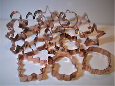 Set of 16 Christmas Seasonal Copper Cookie Cutters