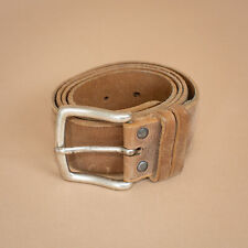 Unisex Camp David Brown Leather Jeans Belt Vintage Men's Women's XSmall Small