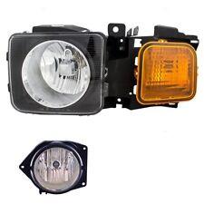 Driver Left Genuine Headlight Headlamp Fog Light for Hummer H3 H3T GM
