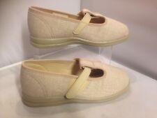 Cosyfeet Ladies Comfort Shoe Beige Size 4 Extra Roomy Steffi