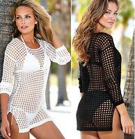 Sexy Womens See Through Swimwear Bikini Beachwear Suit Summer Dress Tops Blouse