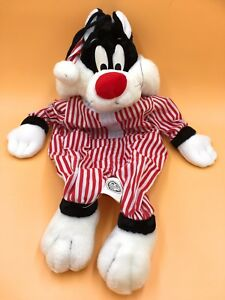 """SYLVESTER HOT WATER BOTTLE COVER PJ CASE 21"""" SOFT TOY CAT WB 1994 LOONEY TUNES"""
