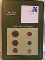 Franklin Mint- Coin Sets of All Nations - Dominion of New Zealand 6 Coins Stamp