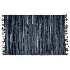 Denim Chindi Area Rag Rug 100% Cotton Recycled Living Room Porch Woven Large 4x6