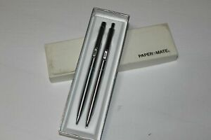 Papermate Profile Set Stainless Steel Pen & 0.9 Pencil New In Box w initials