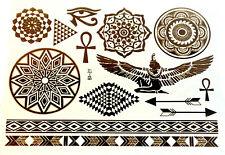metallic egyptian eye arrow band temporary tattoo body jewllery