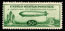 1933 US Scott #C18 - 50c Baby Zeppelin single, Mint Never Hinged; SCV $75.00