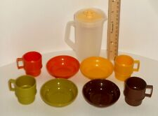 Vintage Tupperware Mini Serve It Cups Bowls & Pitcher Kids Toy Set