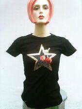 Stars & Stars &cherry Cherry Rockabilly T-Shirt XS-S