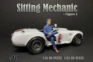 SITTING MECHANIC FIGURE I AMERICAN DIORAMA 38332 1/24 scale Accessory