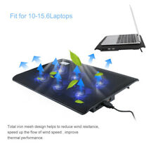 Laptop Cooler Notebook Tablet Stand  2 USB Ports And 6 Silent Cooling Fans UK