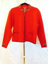 NORM THOMPSON  WOMEN'S RED WOOL ZIPPER FRONT JACKET SIZE L