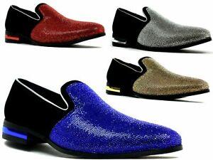 Men's Italian Designer Shoes Smart Formal Party Jazz spat Funky-Wedding -Glitter