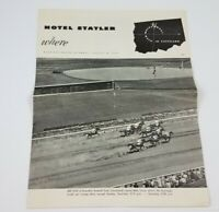 Vintage 1953 Hotel Statler Cleveland Ohio Advertising Paper Brochure