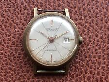 Vintage Mens Greville 21 Jewels Mechanical Wristwatch Swiss Made Working