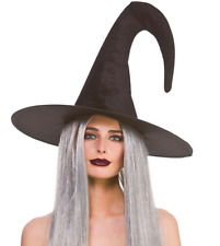 Adulto Deluxe Grigio Mago Cappello Costume Strega Halloween Accessorio Costume
