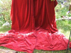 Vintage cotton velvet large curtains.