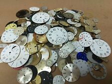 Vintage Wrist and Pocket Watch Metal Dials 1 pound - Parts Repair SteamPunk Art