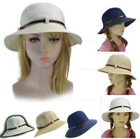 Retro 20s Girls Ladies Packable Foldable Bucket Cloche with Belt Buckle Sun Hat