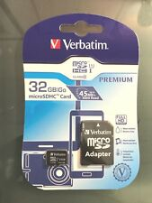 Verbatim 32GB Micro SDHC 1 Card 45MB/s Class 10 w/ SC Adapter 44083 *NEW*
