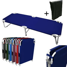 """Portable 24.5"""" W Military Cots Fold Up Bed Hiking Travel Camping -Navy+Free Bag"""