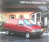 1987 FORD AEROSTAR VAN Dealer Sales Brochure / Catalog with Color Chart