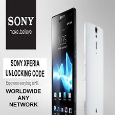 UNLOCK CODES 4 SONY XPERIA ZL V TL SOLA TABLET S T & ALL SONY ERICSSON MODELS