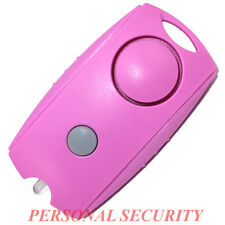 PERSONAL SECURITY 120dB LOUD Panic Alarm,Safety Guard Siren LED torch, PINK