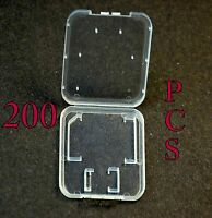 Lot 200 Plastic Case For SD card MicroSD memory card SanDisk Kingston Transcend