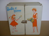 Vintage BARBIE & SKIPPER BARBIE'S LITTLE SISTER CARRYING CASE, Mattel, 1964!