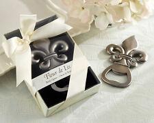 1 Fleur de Lis Pewter Finish Bottle Opener Wedding Favor Party Gift Reception