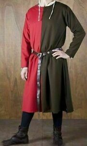 MEDIEVAL Knight Tunic Full Sleeve Renaissance in Red & Black Color
