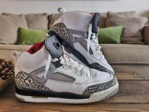 EUC Nike Air Jordan Spizike White/Varsity Red/Cement Grey 315371-122 Size 7y
