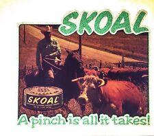 70's SKOAL Dip Cowboy Chewing Copenhagen Tobacco vTg Orig t-shirt iron-on NOS