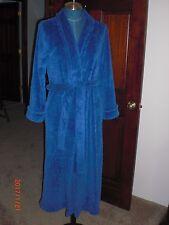 Oscar De La Renta Royal Blue Soft Plush/Fleece Long Bath Robe Size S