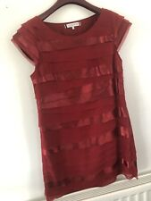 Burgundy Ruffle Ben de Lisi Summer Dress 16 Designer Wedding Races Party