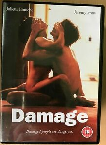 Damage DVD 1992 British Explicit Erotic Drama w/ Jeremy Irons + Juliette Binoche