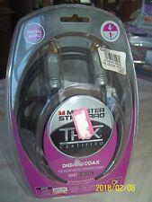 Monster Standard Monster Cable THX 4 Ft.Black Digital Coax Audio Car Audio/Video