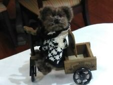 """Vintage Boyds Bears Archibald McBearlie 91393 Blk/White Sweater Retired 6"""" W/Tag"""