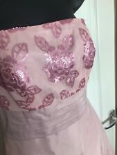 Pink Next Occasions Dress SIZE 6 Prom Bridesmaid Cocktail Sequin Underskirt