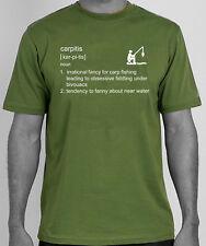 'Carpitis' carp fishing angling tackle humour t-shirt