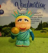 "Disney Park Vinylmation 3"" Set 3 Muppets Miss Piggy Statue of Liberty"
