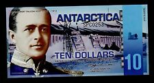 ANTARCTICA  10  DOLLARS  2011  PICK NL  UNC BANKNOTE.