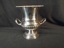 Silver Vase, Vintage. Miniature Wine Cooler. Silver on copper